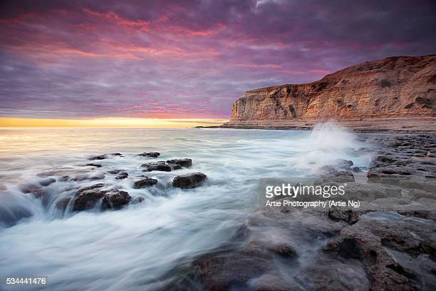 Sunset at Aldinga Beach, Fleurieu Peninsula, Onkaparinga, Adelaide, South Australia