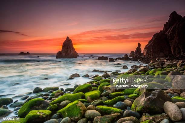 Sunset at Aroeira Beach