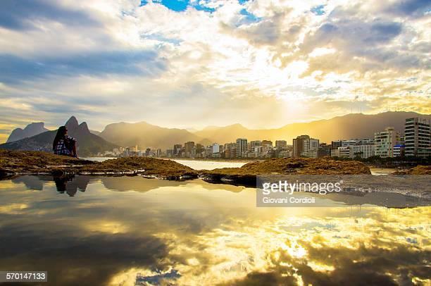 Sunset at Arpoador, Rio