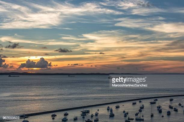Sunset at Bahia-de-todos-os-Santos, Salvador, Bahia, Brazil