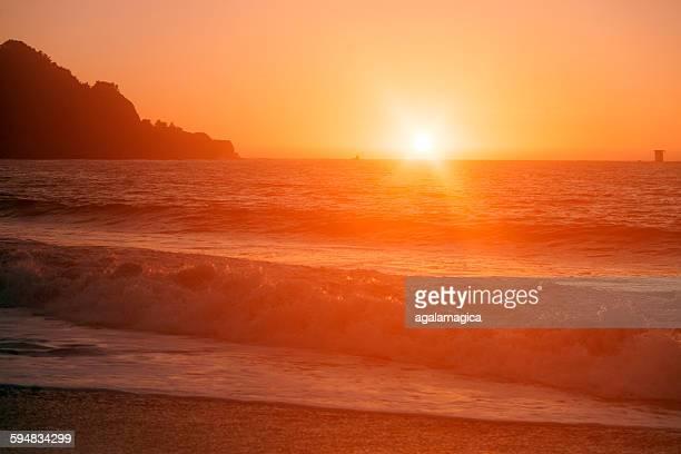 Sunset at bakers beach, San Francisco, California, America, USA