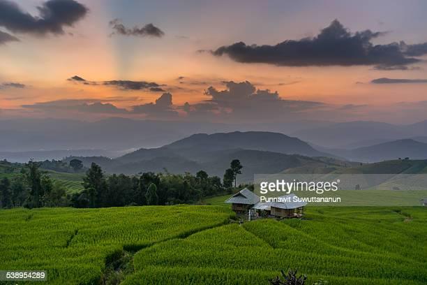 Sunset at Ban Pa Bong Piang