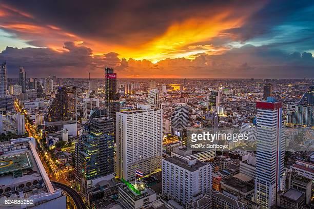 sunset at bangkok - nopz stock pictures, royalty-free photos & images