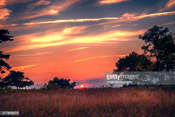 sunset at big meadows - big meadows stock pictures, royalty-free photos & images