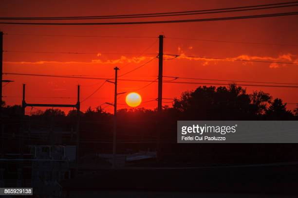 Sunset at Billings, Montana, USA