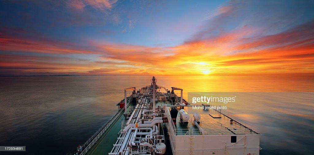 Sunset At Bintulu, Sarawak : Stock Photo