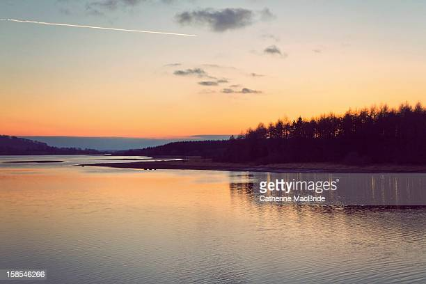 sunset at blessington lakes - catherine macbride stock pictures, royalty-free photos & images