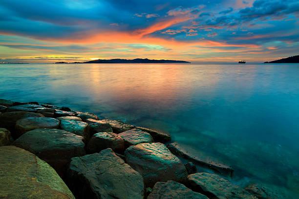 Sunset At Borneo, Sabah, Malaysia Wall Art