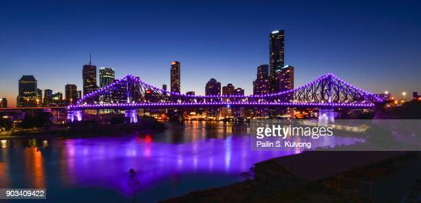 Sunset at Brisbane City View and Story Bridge, Queensland/ Australia