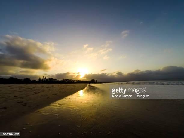 Sunset at Byron Bay Main Beach, New South Wales, Australia