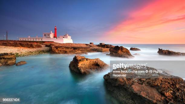 Sunset at Cabo Raso Lighthouse in Portugal