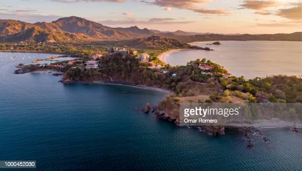 sunset at cabo velas - costa rica stock-fotos und bilder