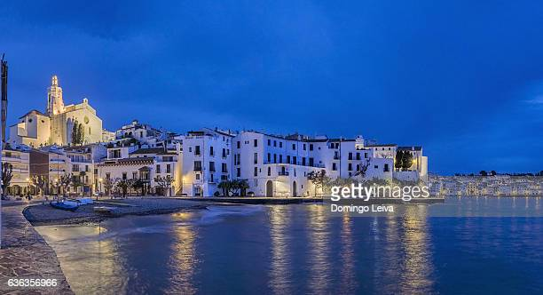 sunset at cadaques - cadaques stock pictures, royalty-free photos & images