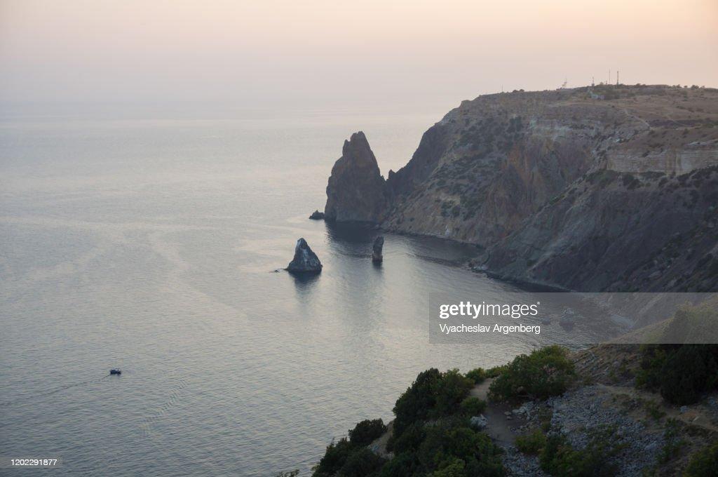Sunset at Cape Fiolent, Crimea : Stock Photo