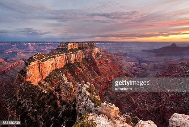 sunset at cape royal, grand canyon, arizona, america, usa - category:grand_canyon_national_park stock pictures, royalty-free photos & images