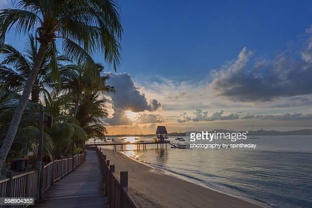 Sunset at Changi Beach