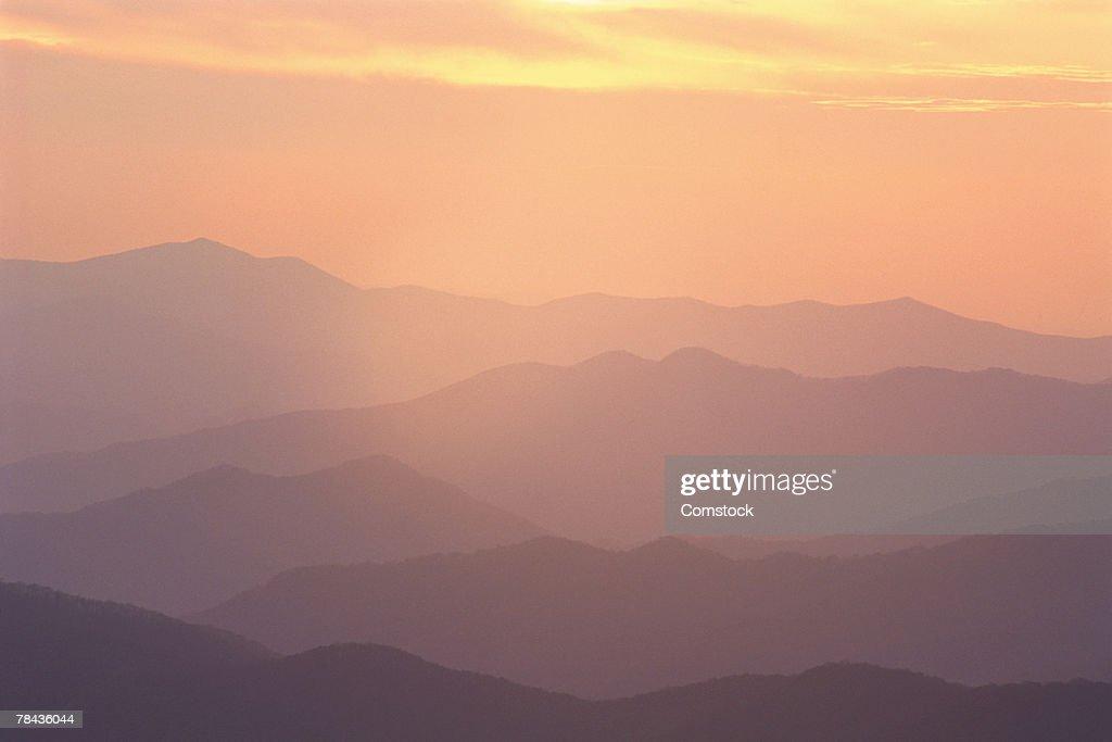 Sunset at Clingmans Dome , Great Smokey Mountain National Park , North Carolina : Stockfoto