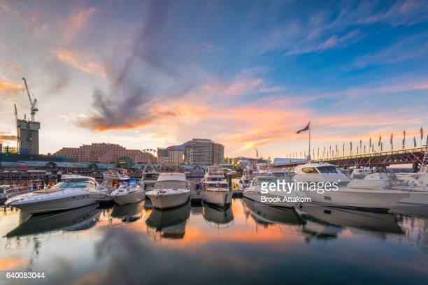 Sunset at Darling Harbour, Sydney, Australia.