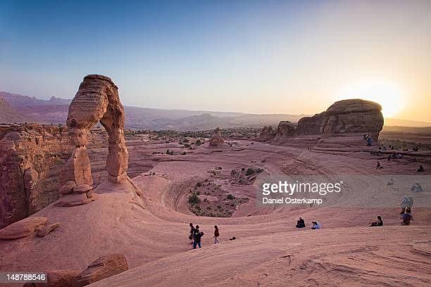 Sunset at delicate arch in arches national park