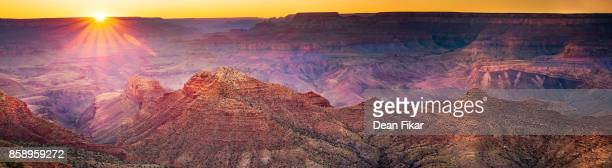 sunset at desert view point - grand canyon village stock photos and pictures