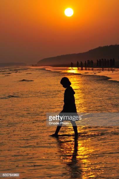 Sunset at digha sea, West Bengal, India