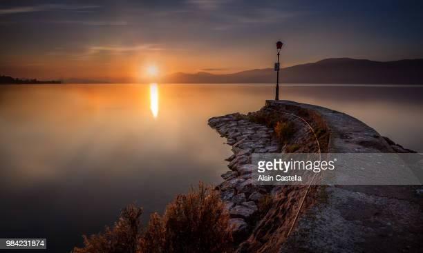 Sunset at Estavailer-le-lac