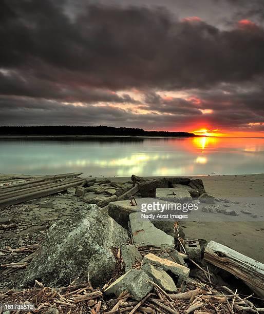 Sunset at Foxton, New Zealand