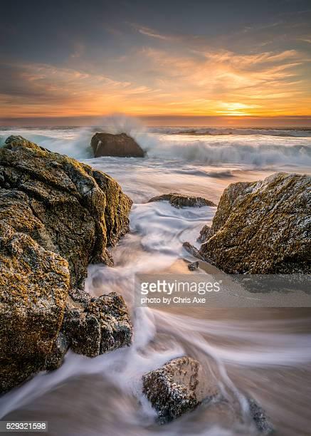 Sunset at Garrapata Beach Exposed