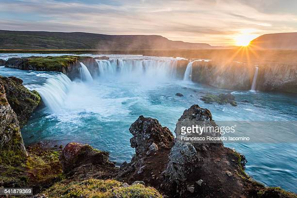 Sunset at Godafoss, Iceland