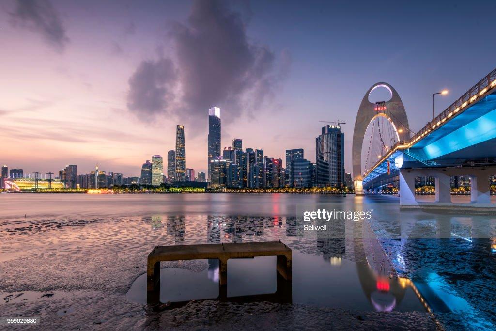 Sunset at Guangzhou : Stock-Foto