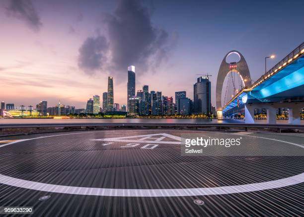 sunset at guangzhou - guangdong province stock pictures, royalty-free photos & images