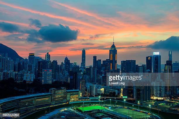 Sunset at Happy Valley, Hong Kong