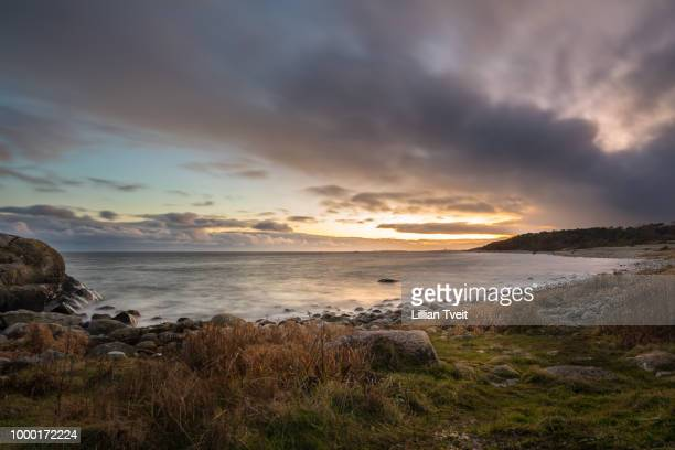Sunset at Hove, Tromoy in Arendal, Norway. Raet National Park.