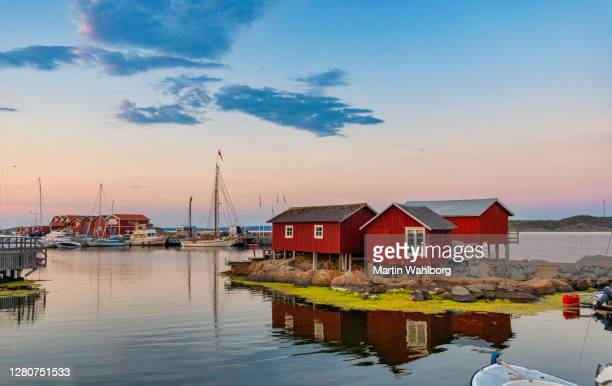sunset at island of knippla in gothenburg - gothenburg stock pictures, royalty-free photos & images