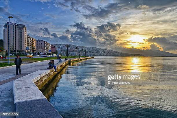 sunset at izmir - emreturanphoto stock pictures, royalty-free photos & images