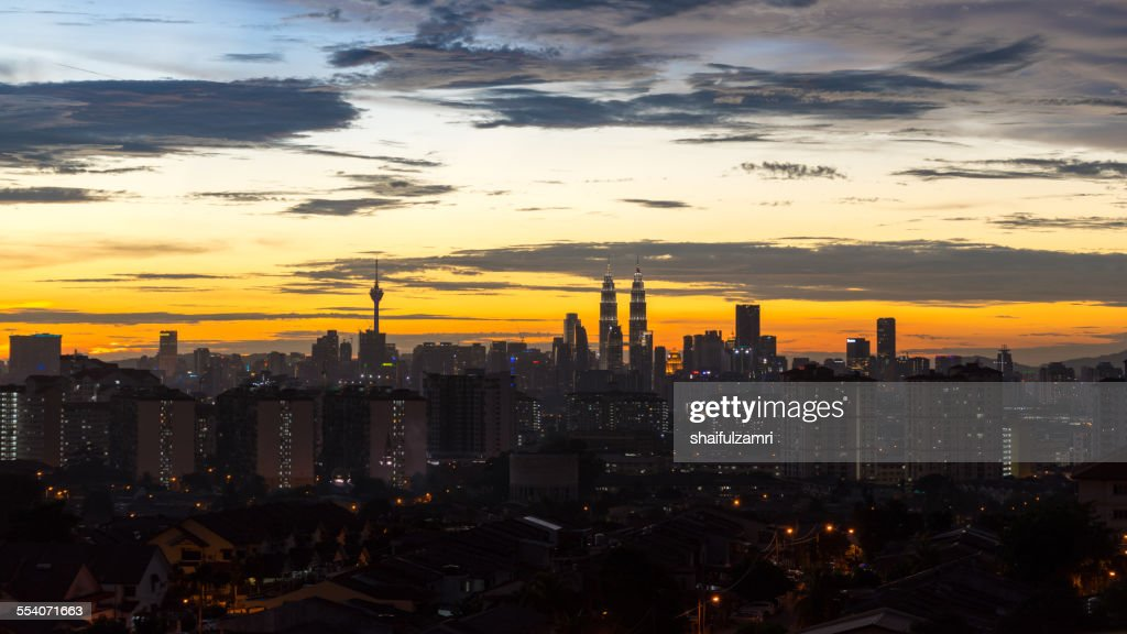 Sunset at Kuala Lumpur, Malaysia : Stock-Foto