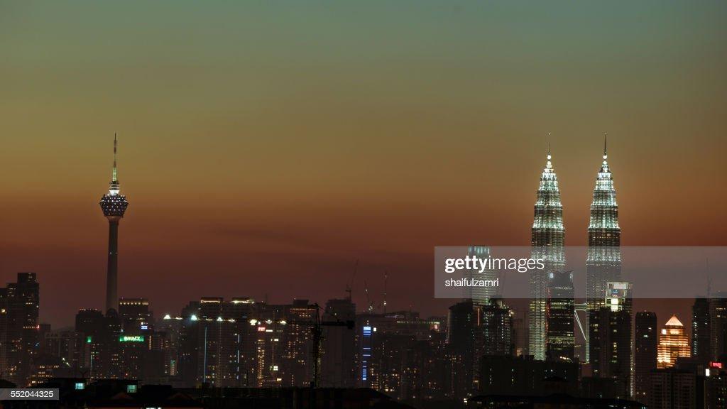 Sunset at Kuala Lumpur : Stock-Foto