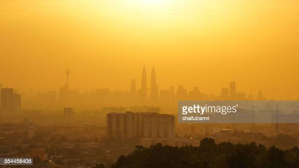 sunset at kuala lumpur - shaifulzamri stock pictures, royalty-free photos & images