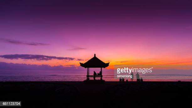 Sunset at kuta Beach, Bali, Indonesia