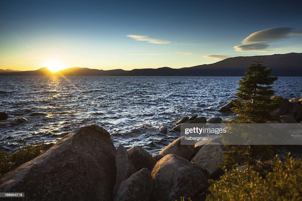 Sunset at Lake Tahoe : Stock Photo