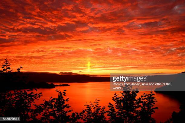 Sunset at Lake Towada, Aomori, Japan