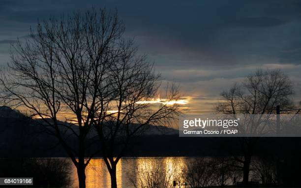 Sunset at Lake Zug in Switzerland