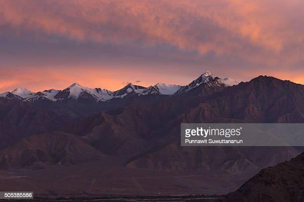 Sunset at Leh mountain