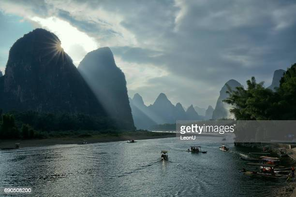Sunset at Li River, Guilin, China