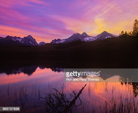 sunset-at-little-redfish-lake- ...