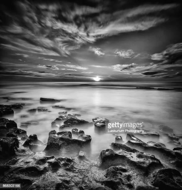 sunset at Magoito Beach