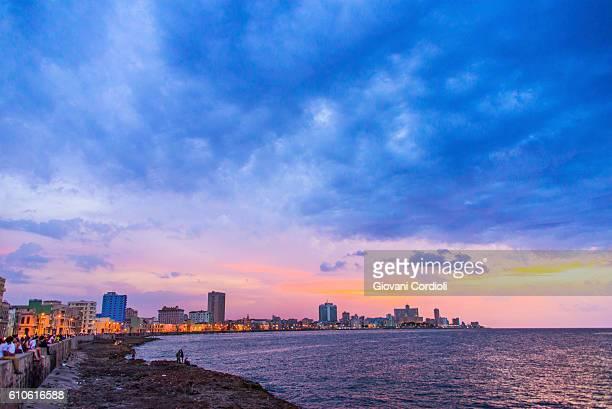 Sunset at Malecon, Havana