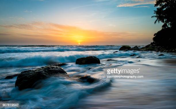sunset at mount lavinia sri lanka - colombo stock pictures, royalty-free photos & images