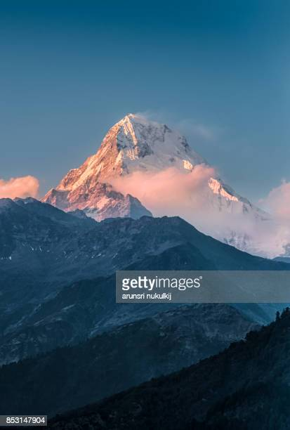 Sunset at Mt. Machapuchare Fish Tail.