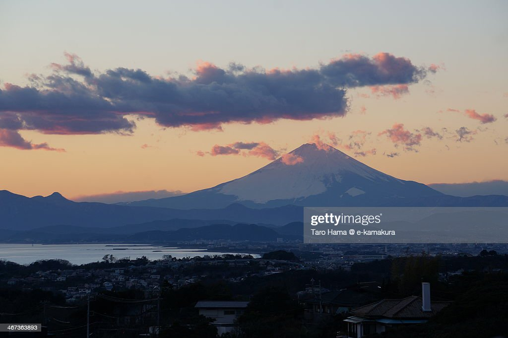 Sunset at Mt.Fuji : Foto de stock